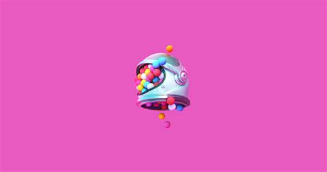 wallpaper colorful balls helmet pink  creative
