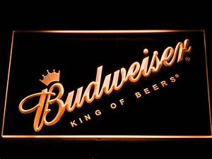 Budweiser King of Beers Slanted LED Neon Sign