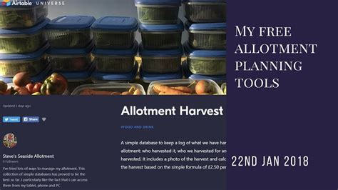 My Free Allotment Planning Tools For 2019 (update Coming