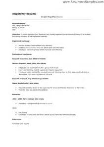 dispatcher resume objective exles transportation dispatcher resume objective bestsellerbookdb