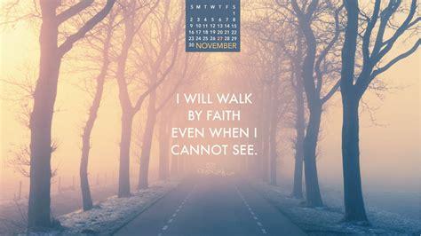 november  walk  faith desktop calendar