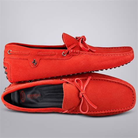 The values shared by tod's and ferrari distinguish this exclusive collection designed for all those who love quality. Ferrari Driving shoes by Tods | Red sneakers, Shoes, Driving shoes