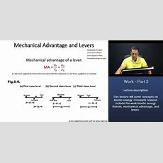 Mcat Mechanical Advantage And Levers (first Class, Second Class, And Third Class Levers) Youtube