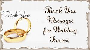 thank you messages for wedding favors With thank you for wedding gift