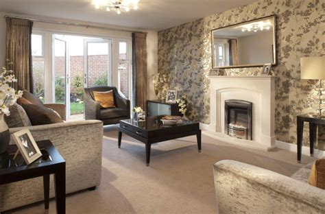 Living Room Wallpaper Neutral by Interior Designed Living Room Using A Neutral Colour