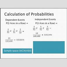 Independent And Dependent Probabilitymp4 Youtube