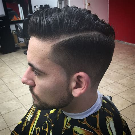 Light Fade by Combover With Light Fade Part And Tapper Back Hair