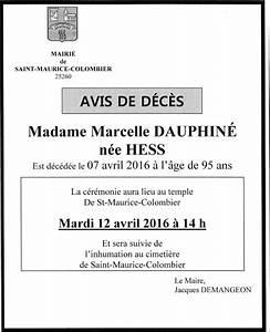 Avis De Deces Marmande 47 : commune de saint maurice colombier ~ Dailycaller-alerts.com Idées de Décoration