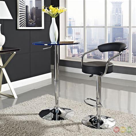diner modern upholstered bar stool w back foot rest in chrome finish black