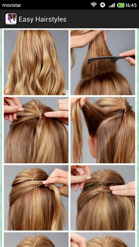 easy hairstylesstep  step android apps  google play