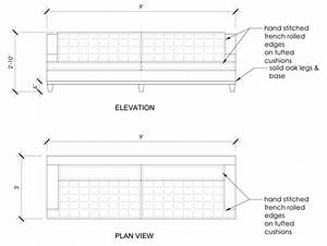 plan elevation section of sofa conceptstructuresllccom With sectional sofa elevation
