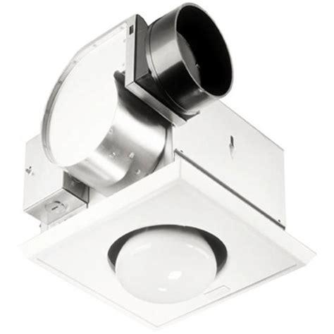 bathroom fans broan single bulb heater