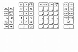 pretty cash register keyboard template ideas example With cash register keyboard template