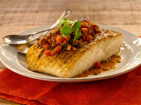 grilled white fish  chermoula recipe bobby flay