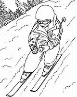 Skiing Ski Coloring Draw Pages Drawing Lift Sheet Doo Jet Sky Getdrawings Printable Getcolorings sketch template