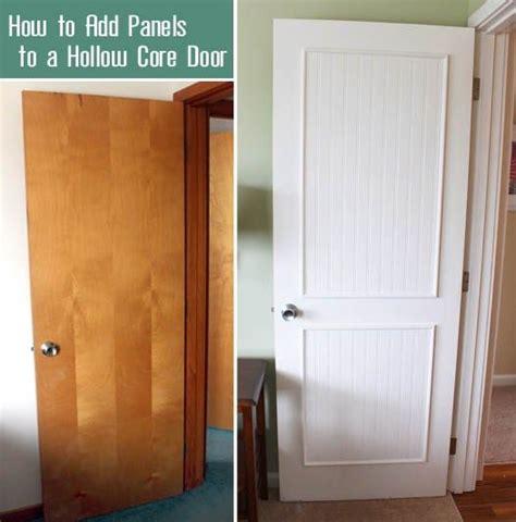 left plain brown door  white  beadboard trimmed