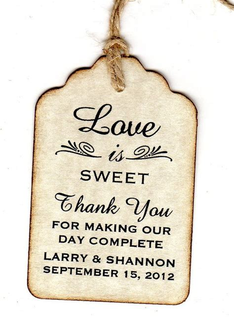 wedding   favor tags personalized love  sweet