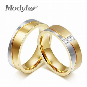 2016 new fashion gold color wedding rings for men and With gold wedding rings for men and women
