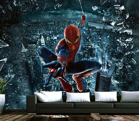 spiderman murals  boys bedroom wallpaper carton wall