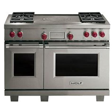 wolf 48 range top wolf 48 quot dual fuel range with oven 4 burners and 1561