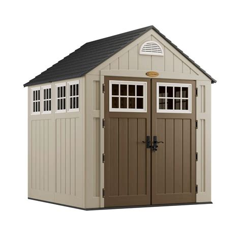 storage sheds home depot suncast alpine 7 ft 2 in x 7 ft 6 in resin storage