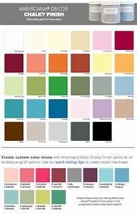 painting color schemes DecoArt Americana Chalk Paint colors | Distressed Paint ...