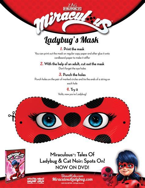 ladybug  cat noir  printable masks  printable