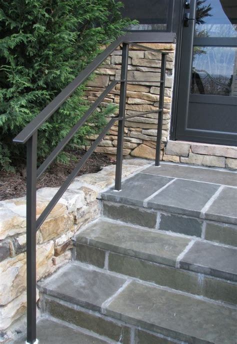 handrail wrought outdoor handrails steps railings iron railing exterior step metal stair stairs hand rail porch wall aluminum outside stone