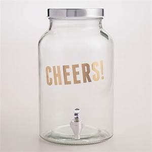 """Cheers!"" Glass Drink Dispenser | World Market  Cheers"