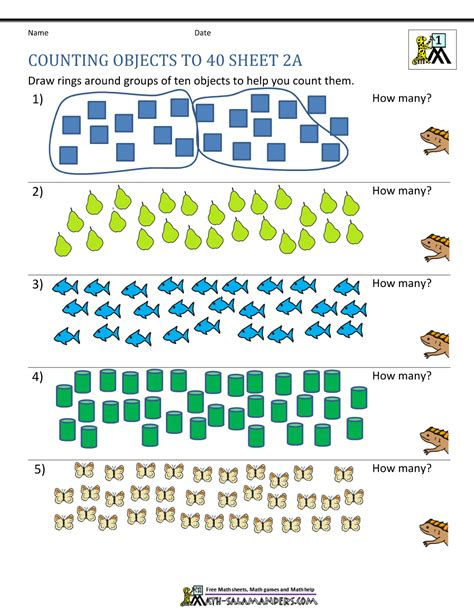 Printable Counting Worksheet  Counting Up To 50