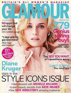 Diane Kruger Covers  U0026 39 Glamour Uk U0026 39  Magazine March 2013  Photo 2804805
