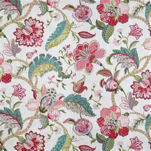 raspberry window curtains floral drapes jacobean style