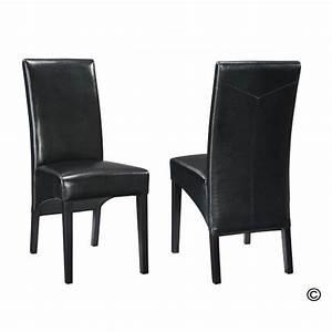 Salle A Manger Noir : chaise de salle a manger en cuir noir ~ Premium-room.com Idées de Décoration