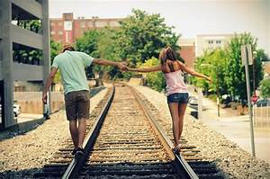 boy, couple, girl, holding hands, love - image #112616 on ...