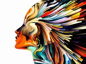 Women, Profile, White, Background, Abstract, Artwork