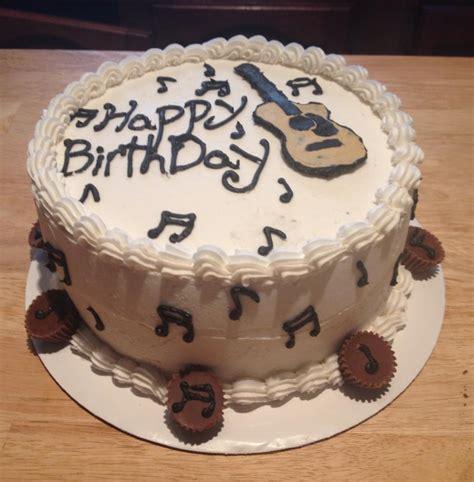 Guitar Shaped Pan Birthday Cake