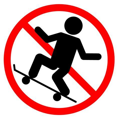 スケボー禁止|貼り紙イラスト|警告|注意