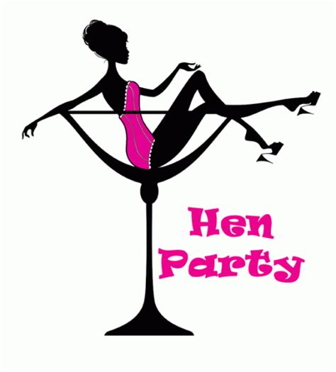 Hen Party Cocktail Glass 10pk Invitations