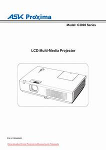 Ask Proxima C3255 Projector User Guide
