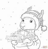 Llama Coloring Pages Printable Pajama Drama Holiday Christmas Pajamas Cute Activities Printables Template Coloringhome Print Gifts Cn Tower Regard Sheets sketch template