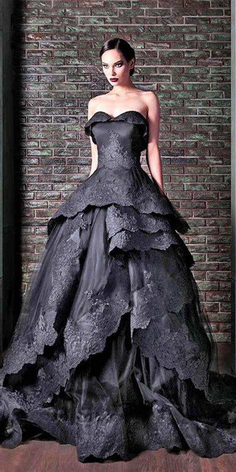 creepily mysterious halloween wedding dress ideas