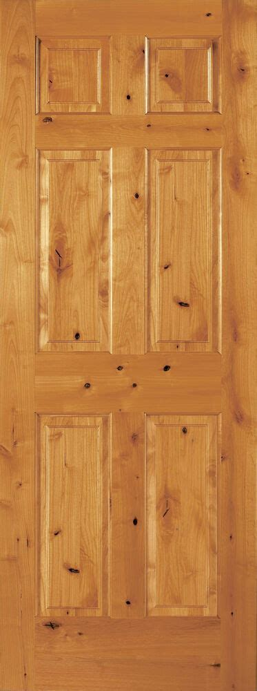 Wood 6 Panel Interior Doors by 6 Panel Raised Knotty Alder Traditional Stainable Solid