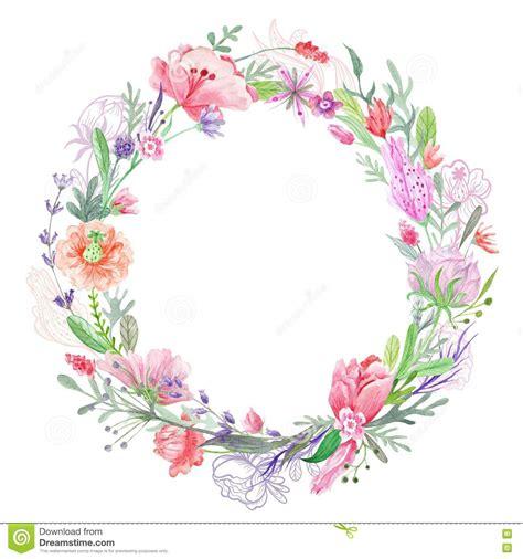 floral wreath frame stock illustration image 71028565