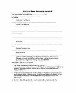 simple interest loan agreement template kidscareerinfo With easy loan without documents
