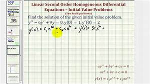 Second order differential equations problem solving 2019-07-08 06:51