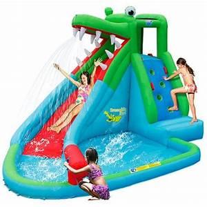8e45664a39fc41 aire de jeux gonflable toboggan crocodile happy hop pas cher prix auchan