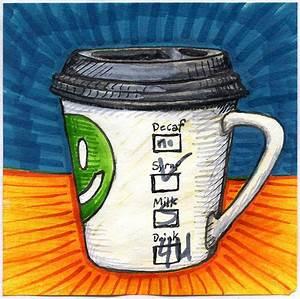 50, Beautiful, Coffee, Mug, Illustration