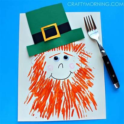 Leprechaun Craft St Fork Patrick Patricks Fun