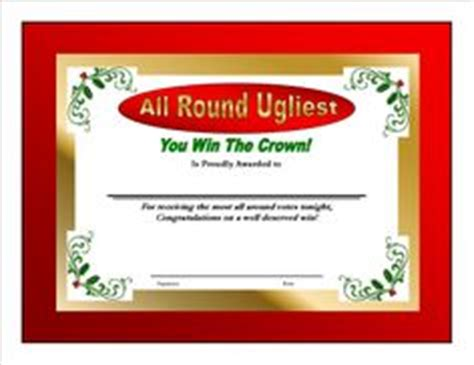 printable ugly sweater certificate no download company s on