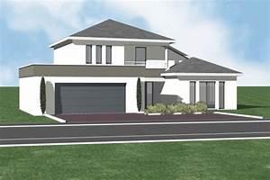interieur maison toit 4 pans With attractive plan de maison cubique 17 maison contemporaine moderne et design d architecte